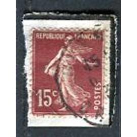 """Timbre Oblitéré - Type """" Semeuse Camée """" - 15 Cts - Roty / Mouchon - 1926"""
