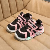 6223582322293 Enfants Bébé Filles Garçons Lettre Led Lumière Lumineux Chaussures De  Course Sport Sneaker Rose