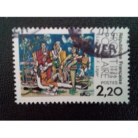 """timbre FRANCE YT 2394 Front populaire 1936-1986 """"Loisirs"""" Fernand Léger 1986 ( 16412 )"""