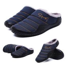 buy online 9922e 257d7 Chaussons Homme Femme Hiver Pantoufles Chaud Coton Peluche Intérieur  Extérieur Maison Imperméables Chaussures