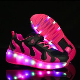 a28d6f5c58742 Led Lumineux Chaussures Détente Enfants Chaussures Clignotants Léger Garçon  Fille Unisexe Populaire Chaussures Zx-Sxwa74