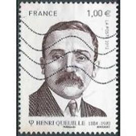 """timbre oblitéré """" Henri Queuille"""