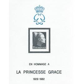 Bloc Feuillet Neuf** Monaco N° 24 Hommage À La Princesse Grasse 1929-1982