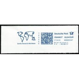 Allemagne EMA Empreinte Postmark Specialty Chemicals for World Market