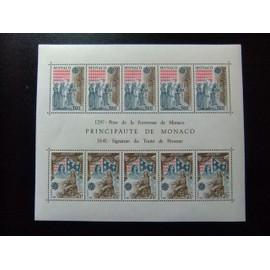 MONACO 1982 EUROPA CEPT Prise de la Forteresse de Monaco Yvert bloc 22 ** MNH