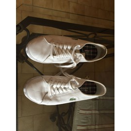 76201d44f8 Baskets Lacoste Blanc Achat, Vente Neuf & d'Occasion - Rakuten