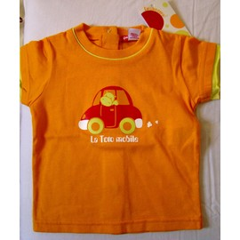 a854353e21584 Tee-Shirt Motif Voiture Neuf - Orchestra - Taille 6 Mois
