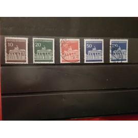 Série timbres oblitérés Porte de Brandebourg