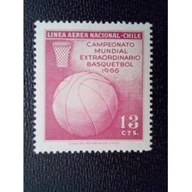 timbre CHILI YT PA 230 Championnat du monde de basketball 1966 ( 080512 )