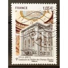 """timbre oblitéré """"centenaire des Champs Elysées"""""""