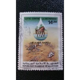 timbre MAURITANIE YT 562 Lutte contre la désertification 1985 ( 140512 )