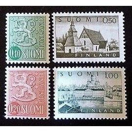finlande neuf y et t n° 534 et + lot de 4 timbres de 1963-72 (n°541 neuf sans gomme)