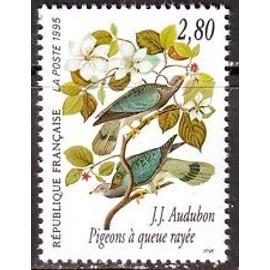 Timbres France 1995 Neuf ** N° 2930 Pigeon à Queue Rayée