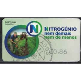Portugal vignette Oblitérée Used Nitrogénio Azote ni de trop ni pas assez SU