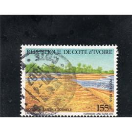 Timbre-poste de Côte d'Ivoire (Paysage côtier)