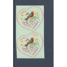 Vend Superbes timbres Neuf** lot variété sur 51A adhésif attenant