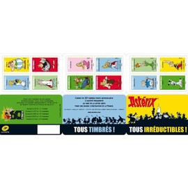 "CARNET 12 TIMBRES ""ASTERIX TOUS IRREDUCTIBLES"""