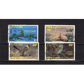 Timbres-poste de Djibouti (Bicentenaire de la naissance de l'ornithologue J.J. Audubon)