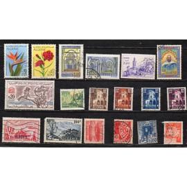 Algérie- Lot de 18 timbres oblitérés divers