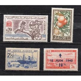 Algérie- Lot de 4 timbres neufs divers