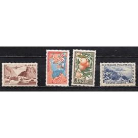 Algérie- Lot de 4 timbres neufs avec trace de charnière- Divers