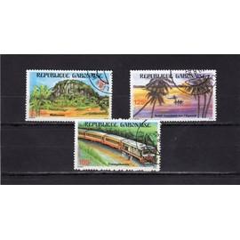 Timbres-poste du Gabon (Paysages du Gabon)