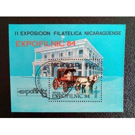 timbre NICARAGUA YT BF 168 2ème Exposition Nationale de Timbres EXPOFILNIC