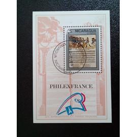 timbre NICARAGUA YT BF 193 Bicentenaire de la Révolution française La Marseillaise 1989 ( 10612 )