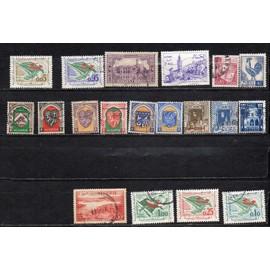 Algérie- Lot de 15 timbres oblitérés- Divers