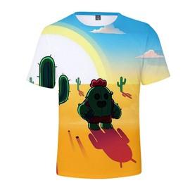 b7ced62f68ca9 Brawl Stars T-Shirt Manches Courtes Pour Enfant 3d Imprimé Tee Shirt Ete  Fashion Col
