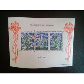 timbre MONACO YT BF 23 Les trois Rois; La sainte famille; Bergers, anges 1982 ( 5612 )