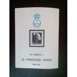 timbre MONACO YT BF 24 Princesse Grace Patricia (1929-1982) 1983 ( 5612 )