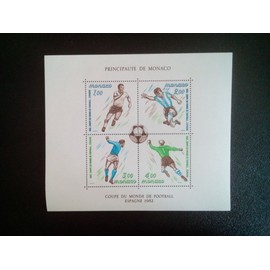 timbre MONACO YT BF 21 Coupe du monde de football 1982, Espagne 1982 ( 5612 )