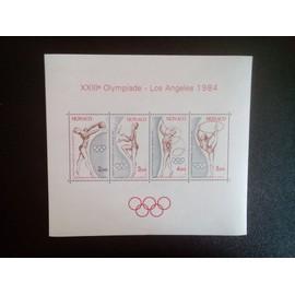 timbre MONACO YT BF 27 Jeux olympiques de Sarajevo et de Los Angeles 1984 ( 5612 )
