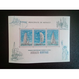 timbre MONACO YT BF 32 Course à la voile transatlantique Monaco-New York 1985 ( 5612 )