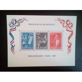 timbre MONACO YT BF 47 Exposition philatélique PHILEXFRANCE