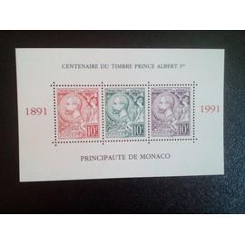 timbre MONACO YT BF 53 Les timbres du centenaire avec la tête du prince Albert I 1991 ( 5612 )