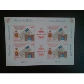 timbre MONACO YT BF 81 Exposition internationale de timbres MONACO