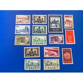 Timbres Sarre Neuf sans gomme 1952/54 Lot 6