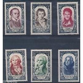 Timbres France 1950 Neuf ** Série YT N° 867 à 872 Célébrités Révolution de 1789