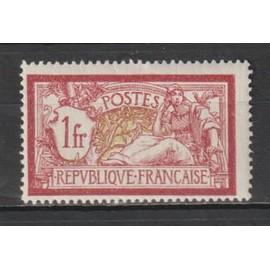 france, 1900, type merson, n°121 (1 f. lie-de-vin et olive), neuf.