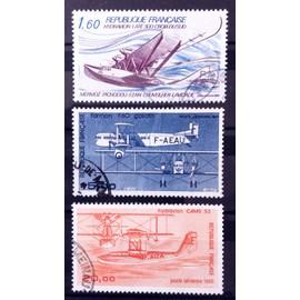 Poste Aérienne - Hydravion Croix du Sud Mermoz (N° 56) + Avion Bimoteur Farman F60 Goliath (N° 57) + Hydravion CAMS 53 (N° 58) Obl - France Année 1982 - N13134