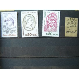 AD 013 / FRANCE LOT TIMBRES NEUFS 1976*1880 à 1882