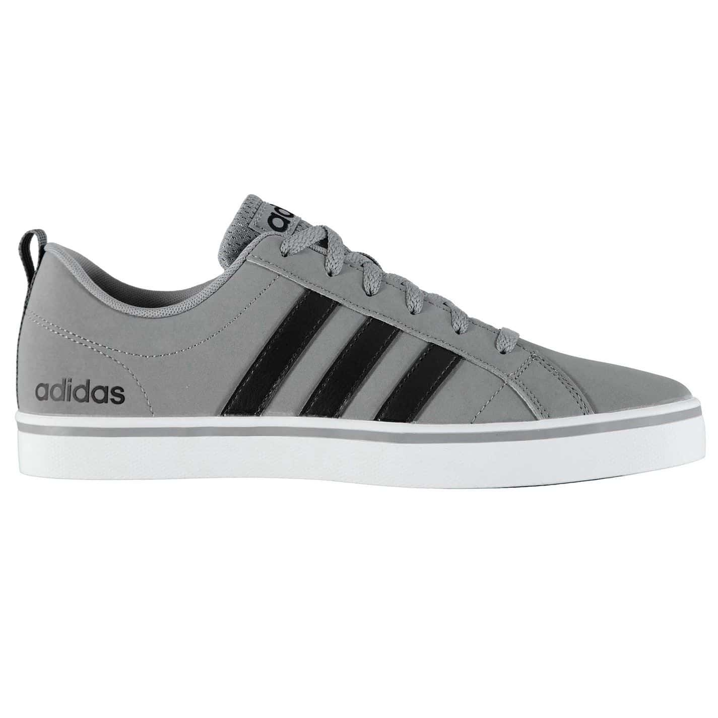 RUNNING: ADIDAS NEO VS PACE GRIS NOIR B74318-taille-39 1/3
