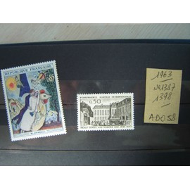 AD / 058 * LOT TIMBRES NEUFS FRANCE *1963 /N°1387/1398