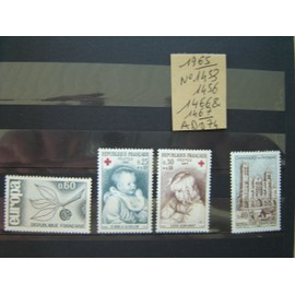 AD 074 * LOT TIMBRES NEUFS FRANCE 1965/ N° 1453/1456/1466/67