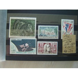 AD 075 * LOT TIMBRES NEUFS FRANCE 1965/ N° 1450/76/78/83/1487