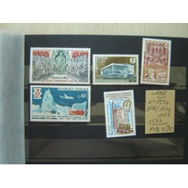 AD 090 / LOT TIMBRES NEUFS FRANCE 1968 * N°1554/66/74/75 /1577