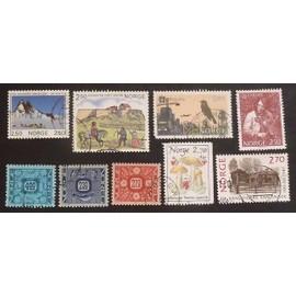 norvège oblitéré y et t n° 874 et plus lot de 9 timbres de 1985-87