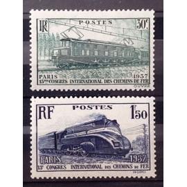 Série Congrès Chemins de Fer de 1937 - Locos / Locomotives / Trains - N° 339-340 Neufs* - Cote 9,50€ - France Année 1937 - N25433